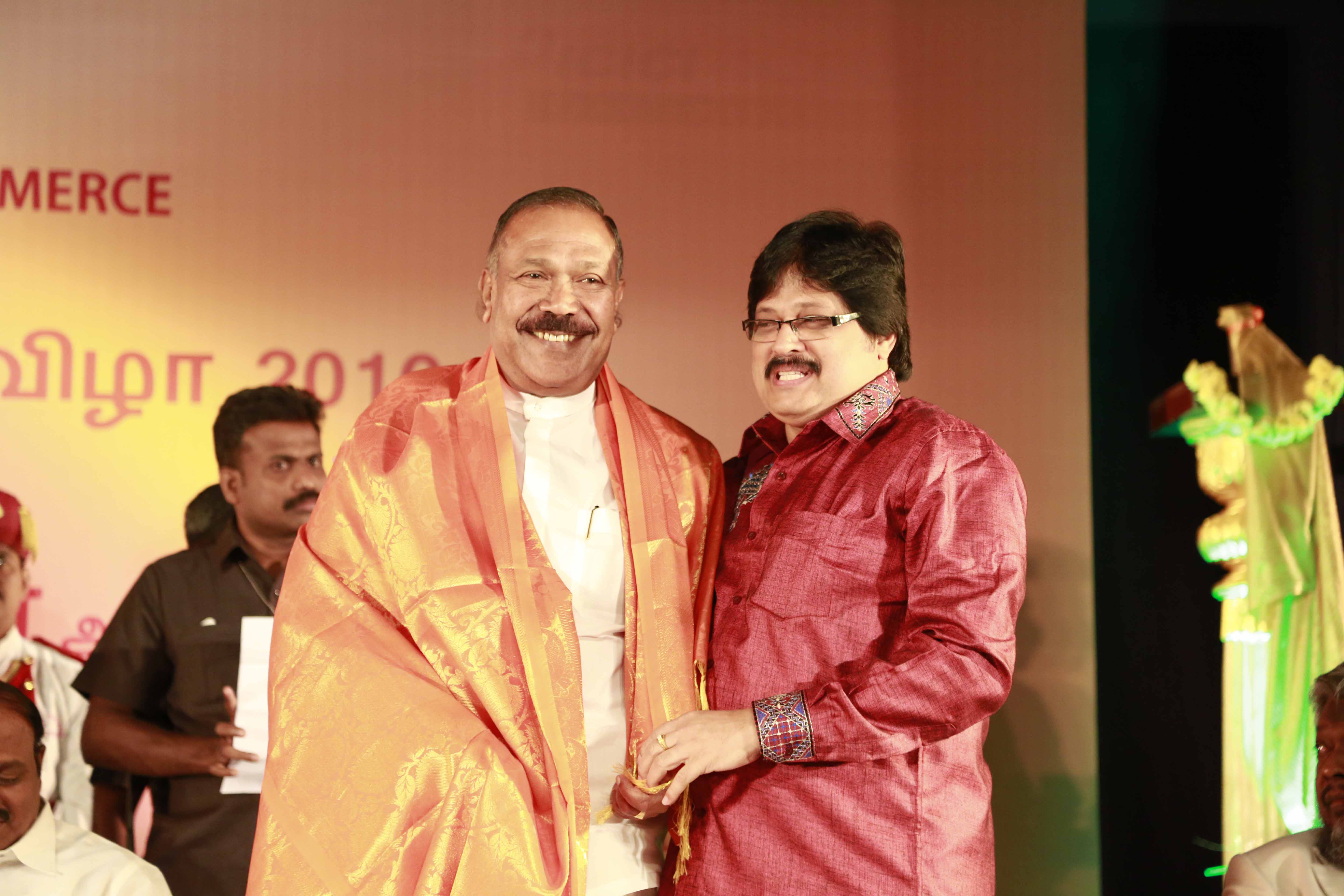 Mr Selvakumar honoring Thiru Radhakrishan, State Education Minister, Srilanka